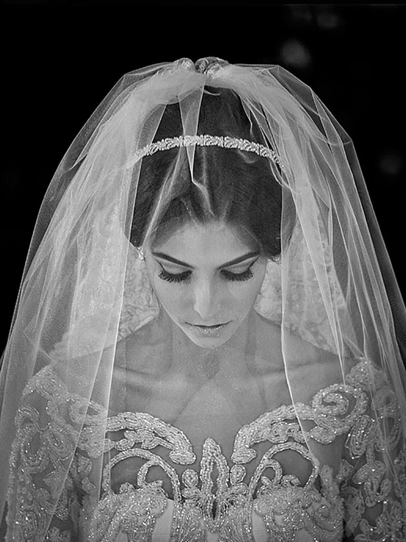 ensaio da noiva em foto preto e branco