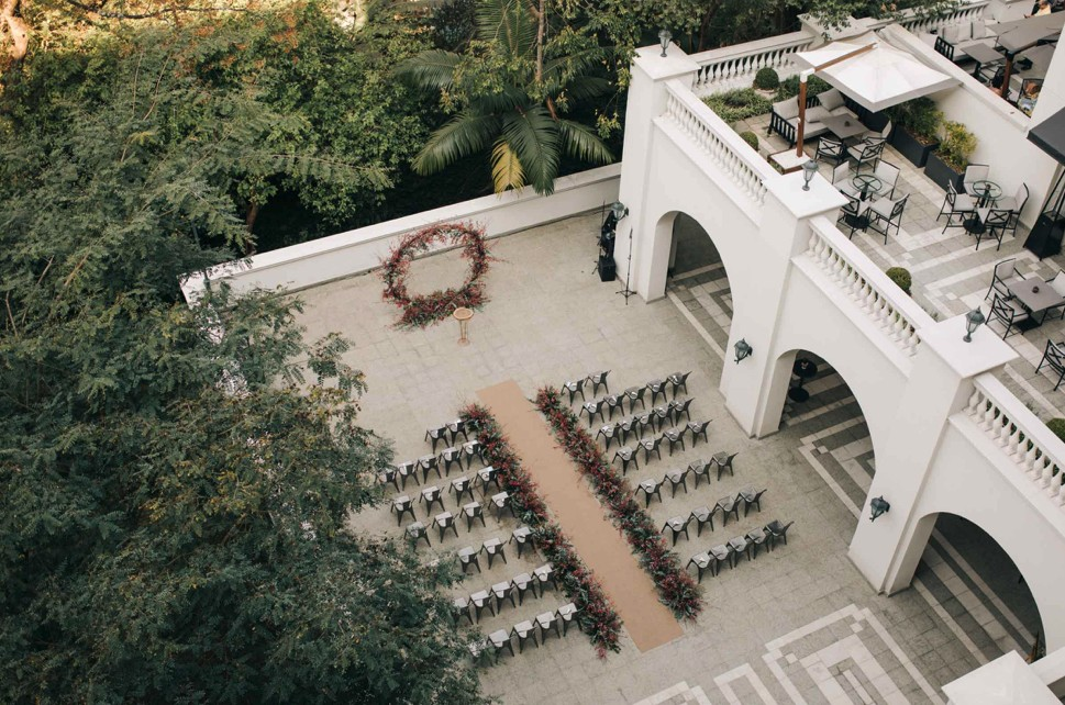 cerimônia de casamento no Palácio Tangará