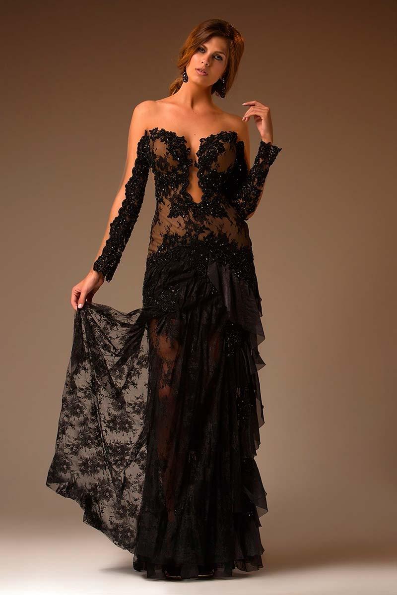 Vestidos de festa preto.