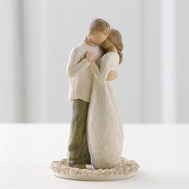 topo de bolo noivos rustico