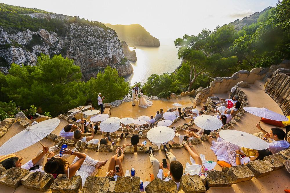 cerimônia de casamento em Ibiza