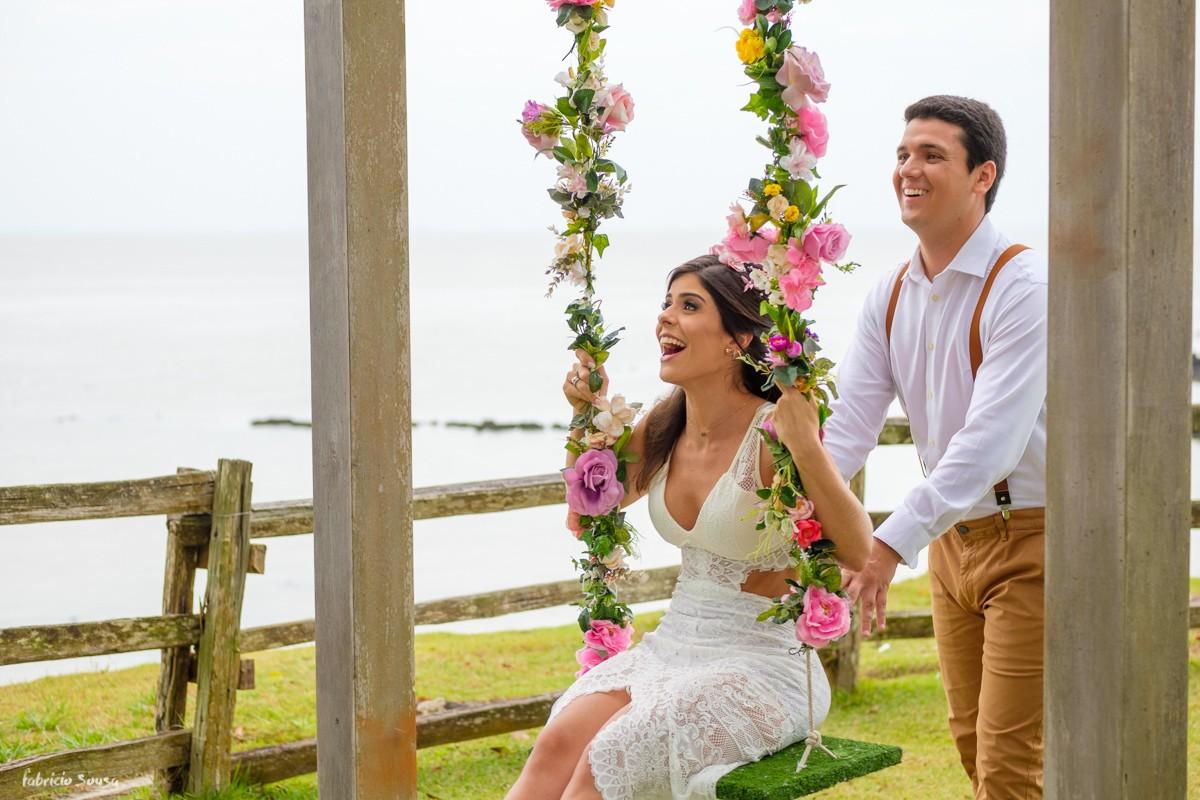 balanço na decoração e detalhes do casamento