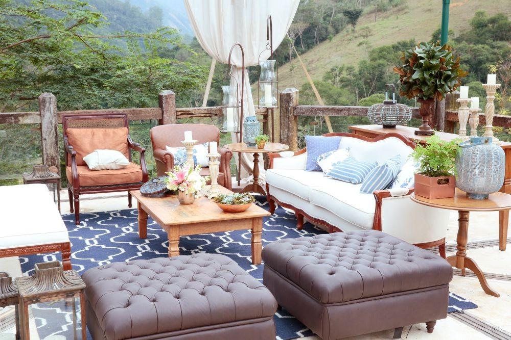 lounge de um casamento no campo