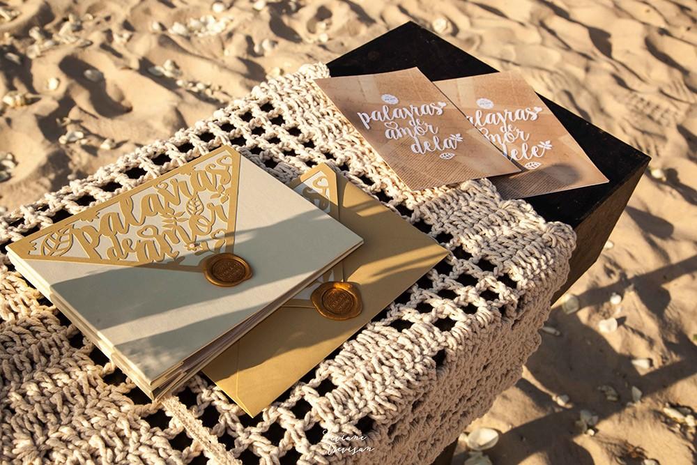 convites de casamento na praia