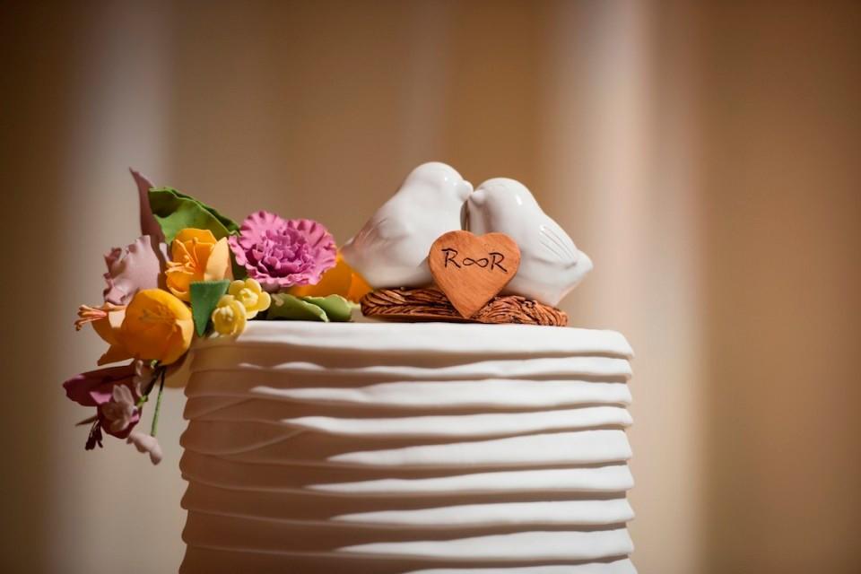 topo de bolo passarinhos de porcelana