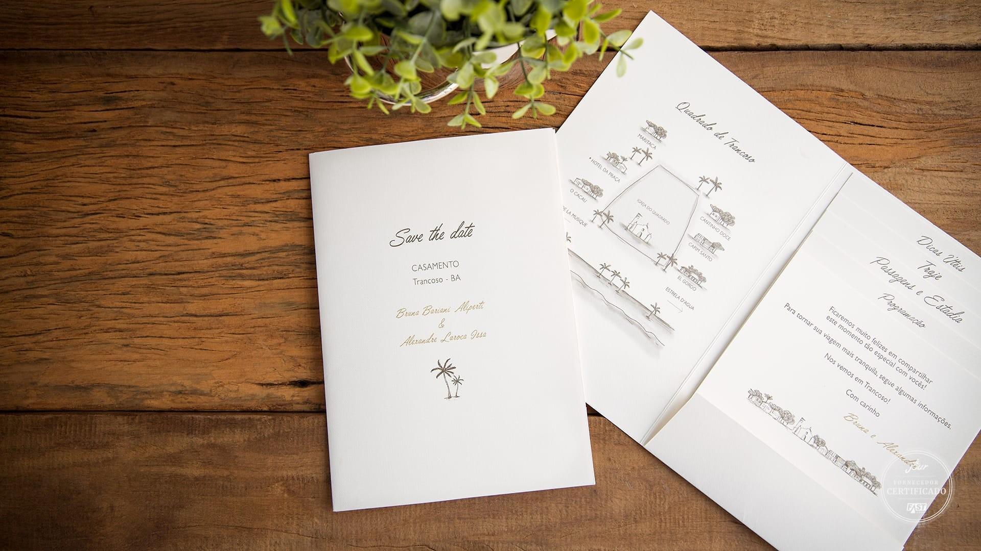 convite e papelaria para destination wedding