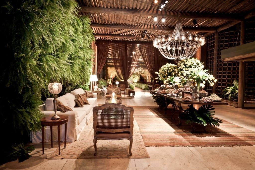 Espaço Gardens decorado para um casamento