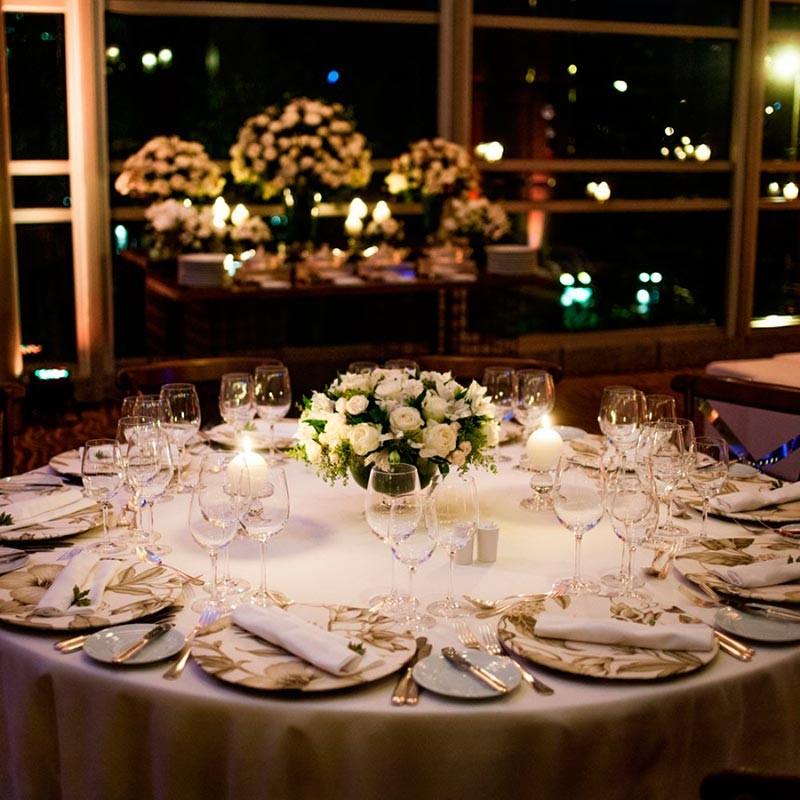 Interior Hotel Hyatt decorada para casamentos.