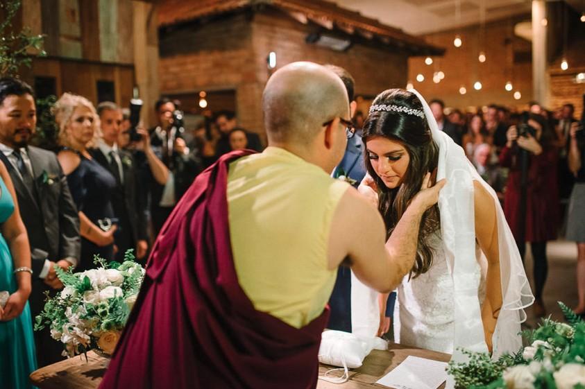 cerimônia de casamento budista na Casa Manioca