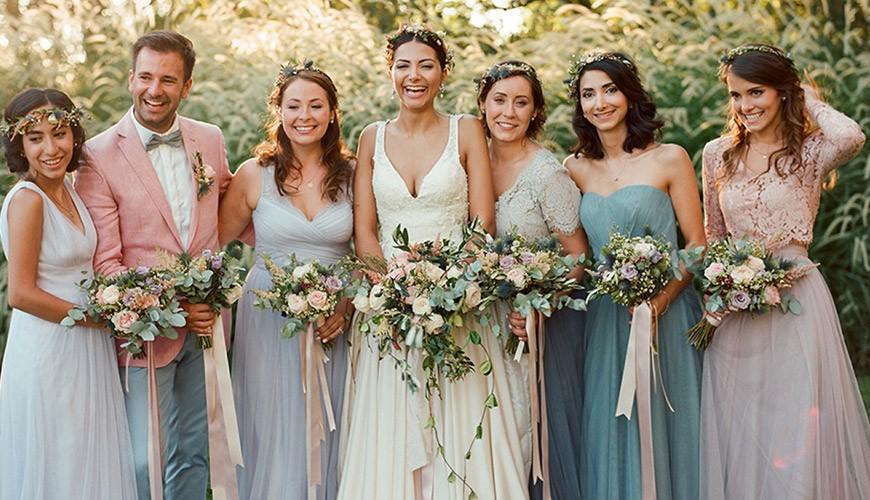 noiva e suas madrinhas