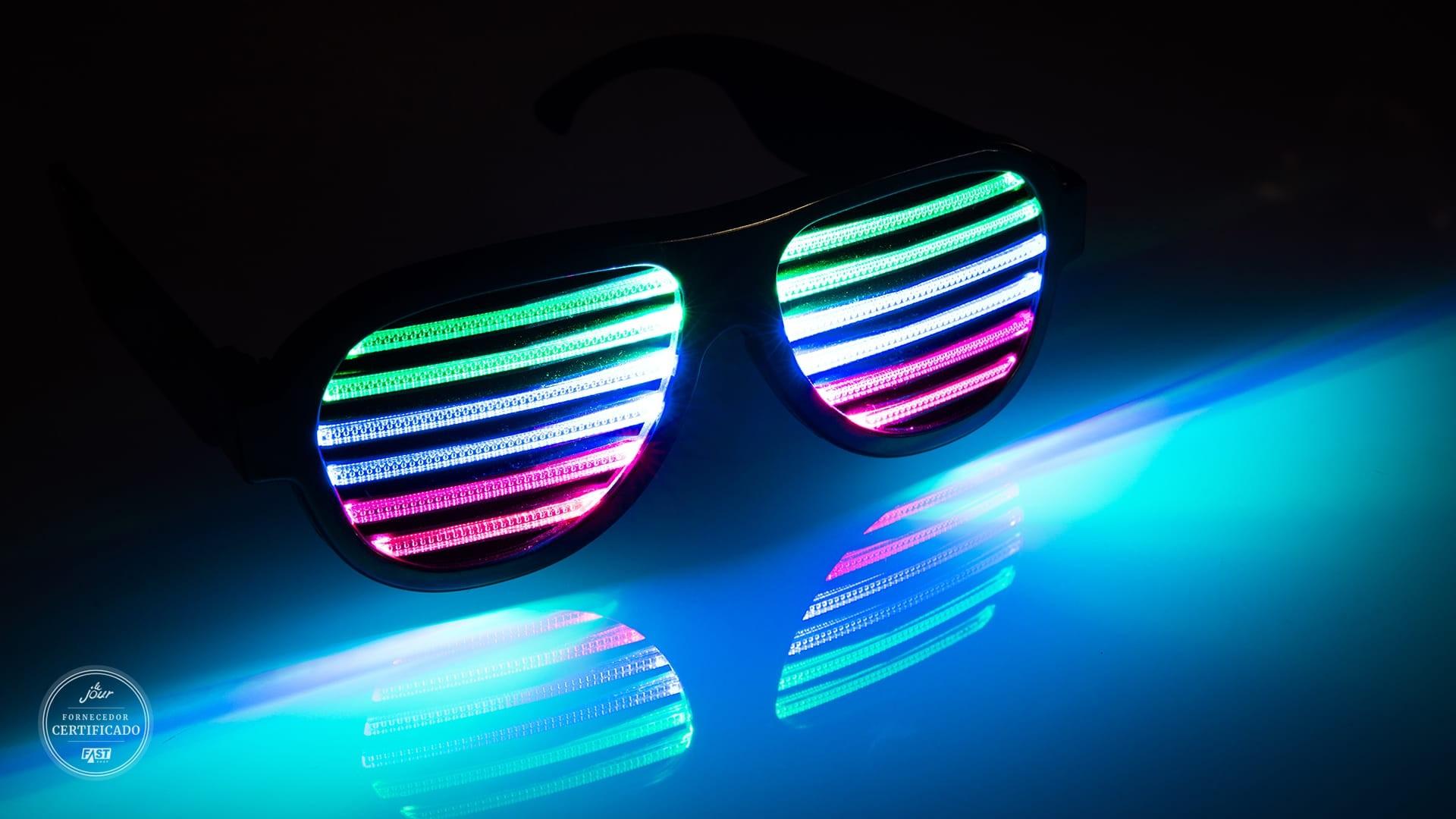 óculos de LED para a pista de dança da Cadô Presentes