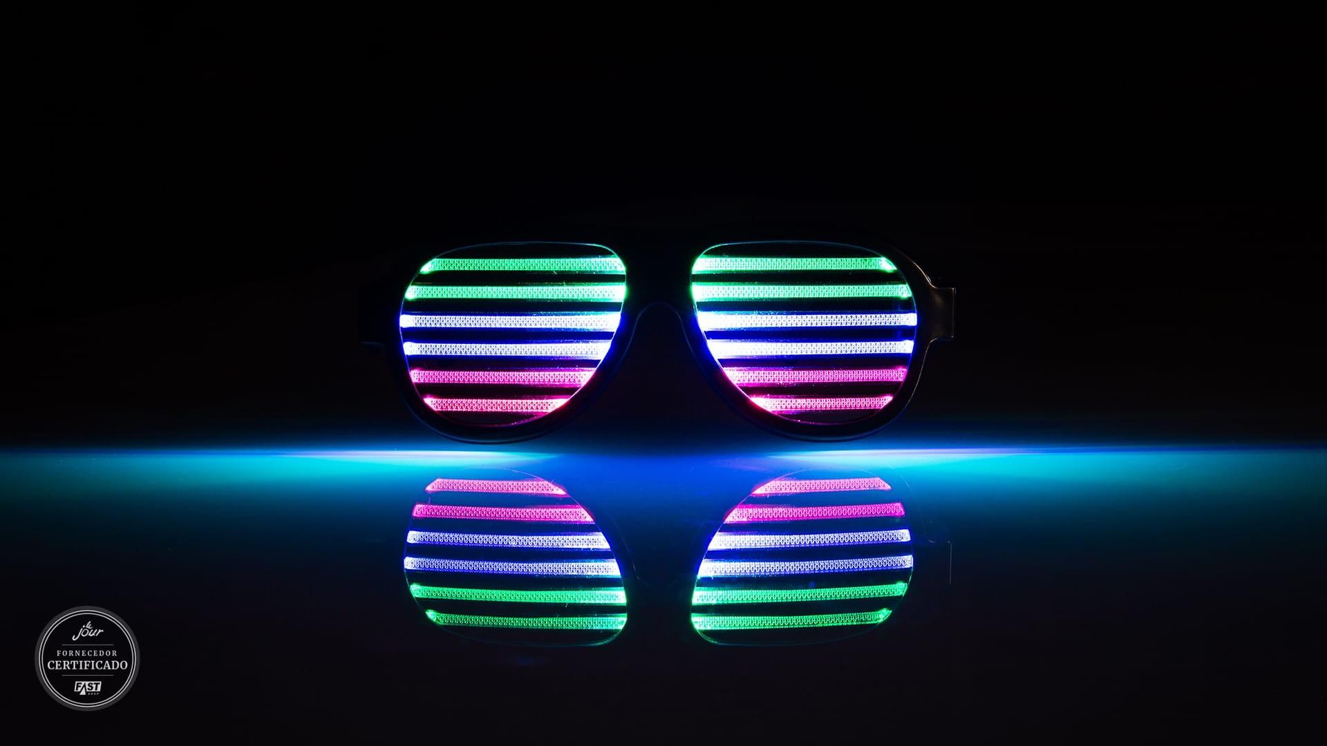 óculos de LED para a pista de dança do casamento