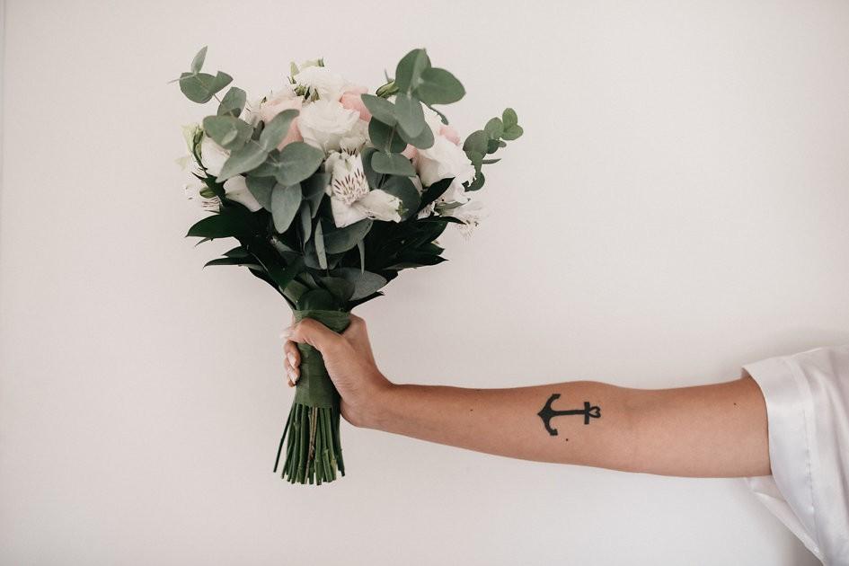 buquê de flores de um casamento