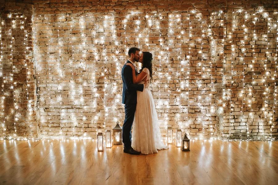decoração com luzes