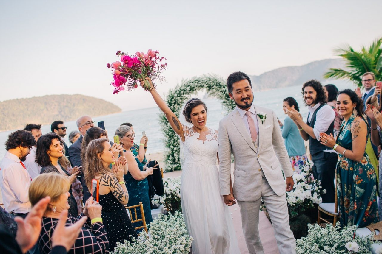 casamento na praia de Tabatinga