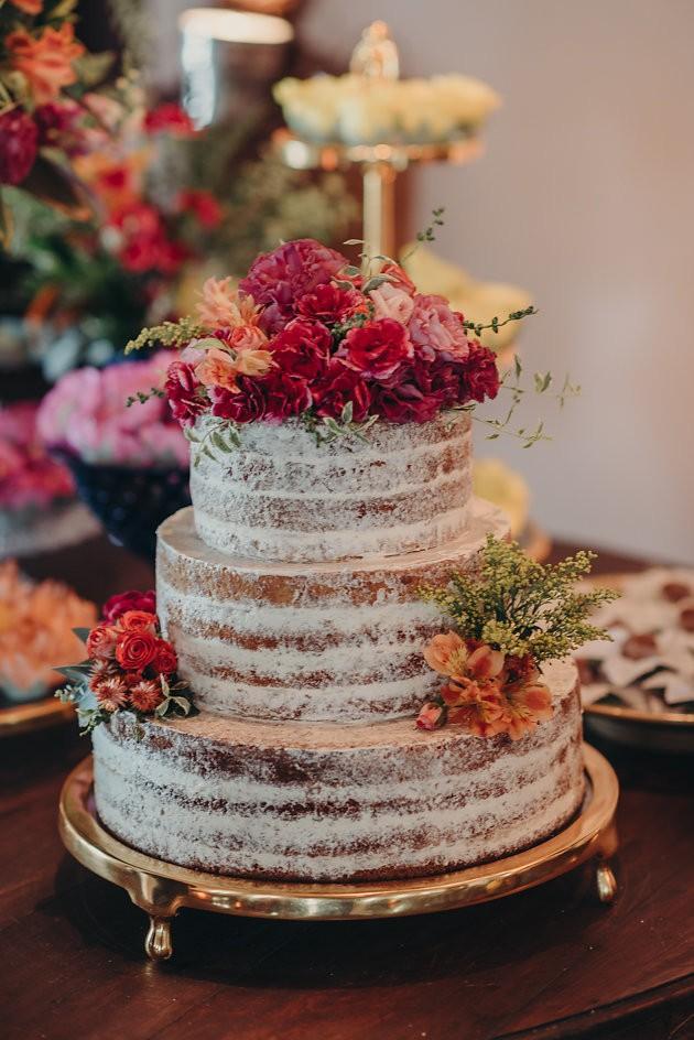 bolo de casamento naked cake espatulado