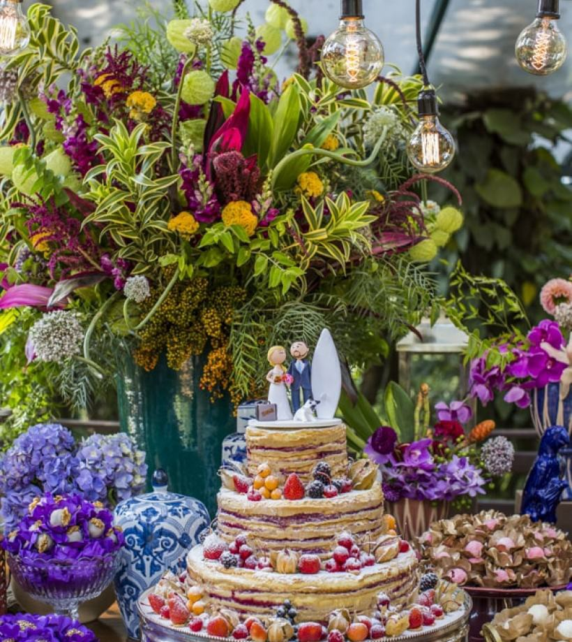 topo de bolo criativo para casamento na praia