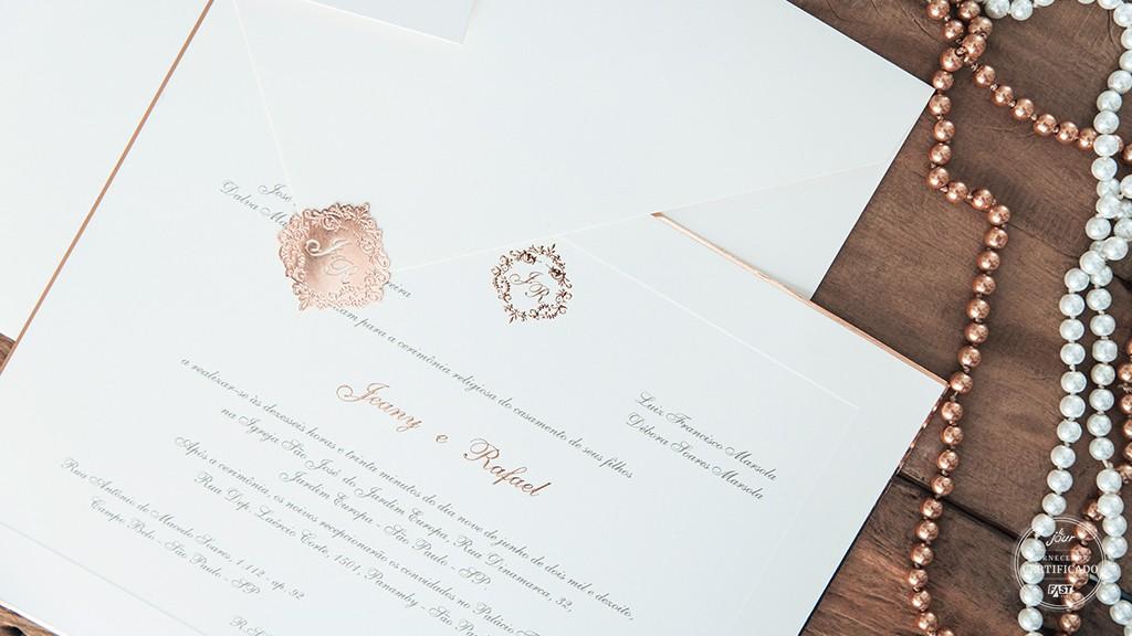 Convite de casamento da Petit Souvenir