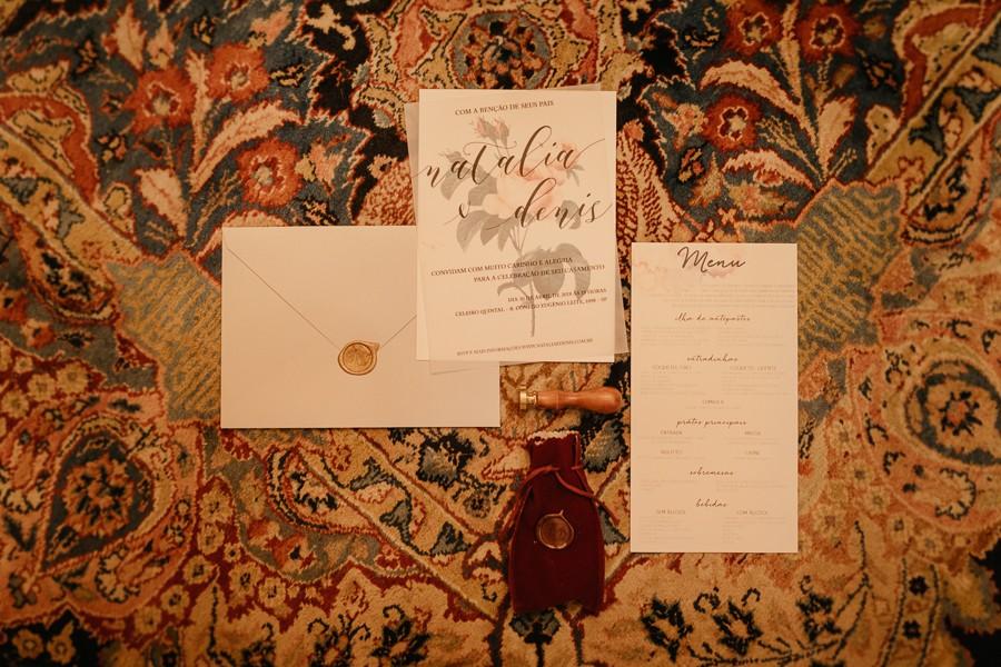 convite e papelaria de casamento