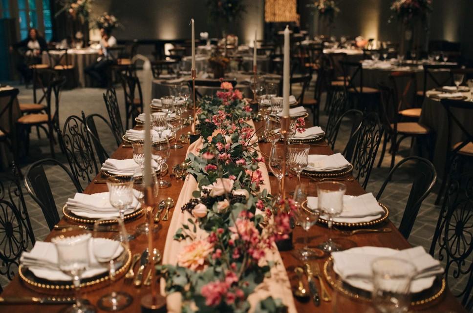 decoração de mesa imperial