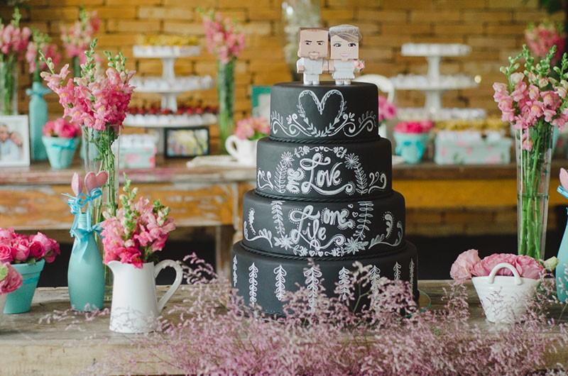 topo de bolo moderno personalizado
