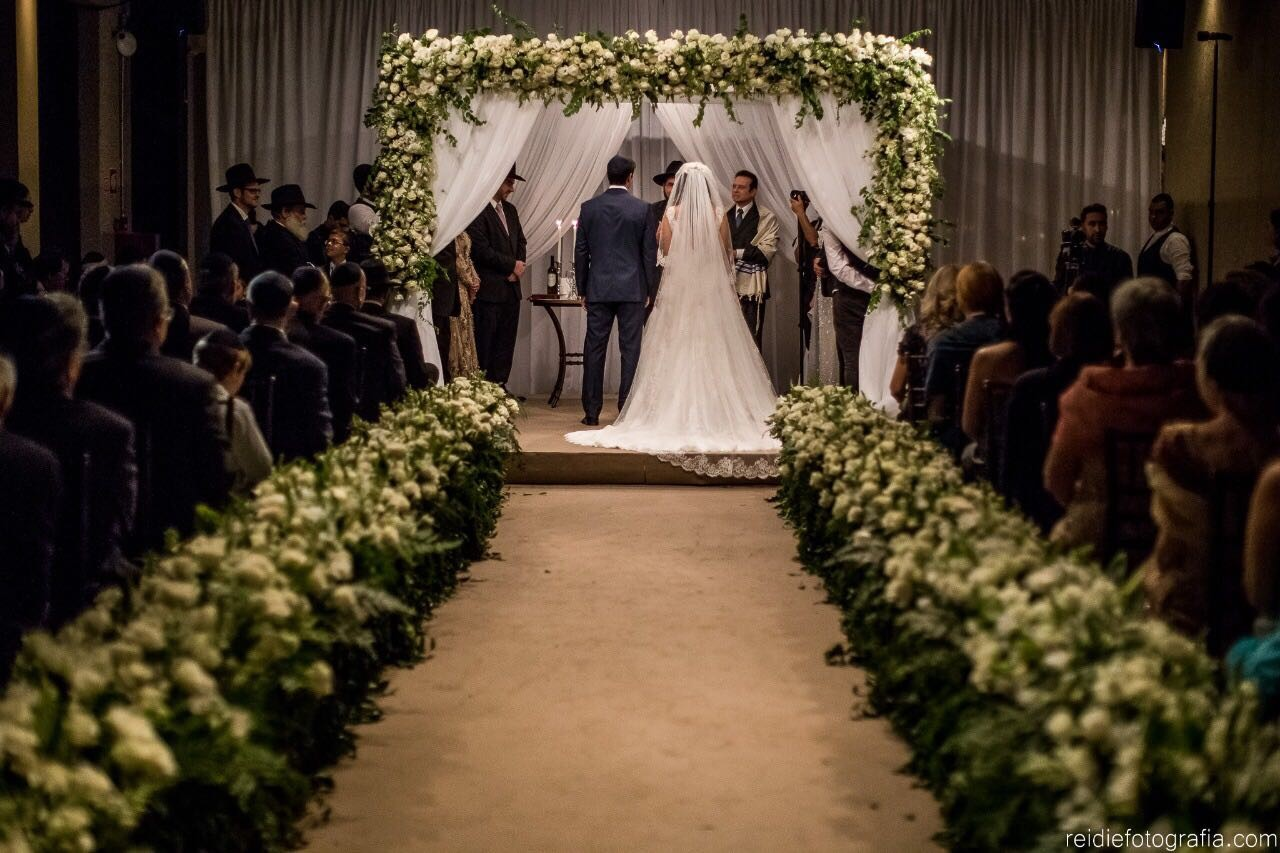 altar de casamento clássico judaico